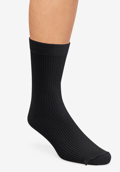 Crew Compression Silver Socks,