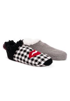 2 Pair Pack Infused Cabin Footie Slipper Socks,