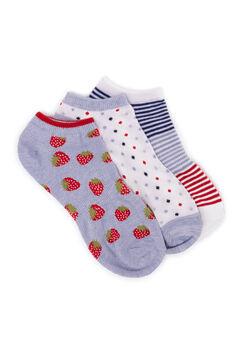 3 Pair Pack Ankle Socks,