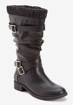 The Eden Wide Calf Boot,
