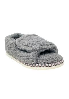 Berber Adjustable Fullfoot Open Toe Slipper,