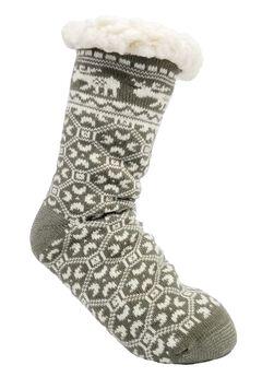 Moose Slipper Sock Slipper Socks,