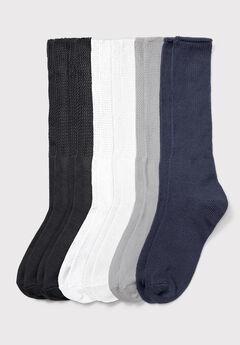 6-Pack Rib Knit Socks ,