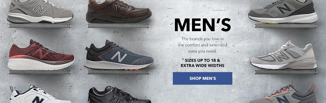 Mens Shoes - The brands you love in the comfort and extended sizes you need. Sizes up to 18 & extra wide widths - SHOP MEN'S
