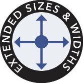 Extended Sizes & Widths